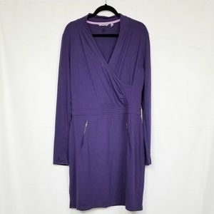 Athleta Purple Long Sleeve Midi Dress XLT